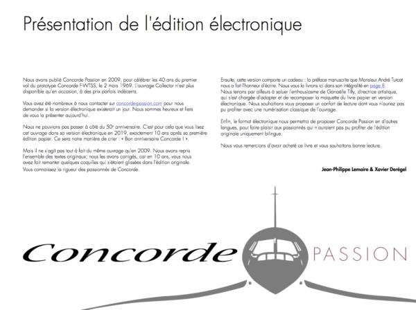 Présentation eBook Concorde Passion