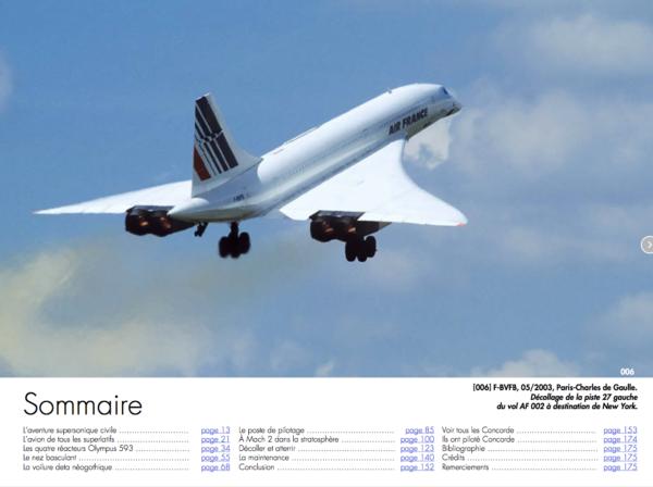Sommaire de Concorde Passion